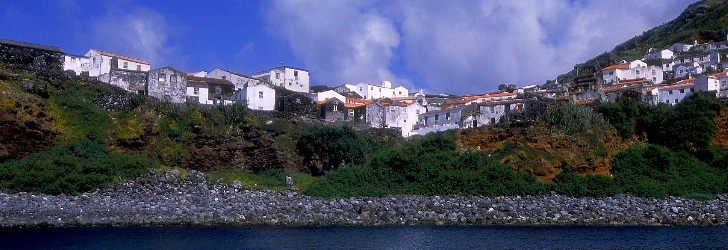 The sea, the port, the houses. Simplicity of life in Corvo.